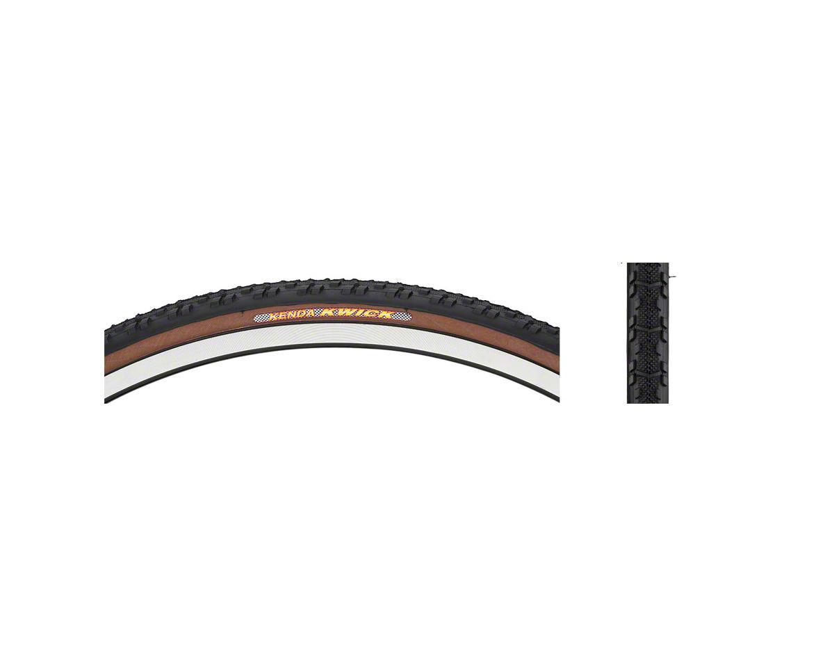 Kenda Kwick Tire - 700 x 30, Clincher, Steel, Black/Mocha, 60tpi