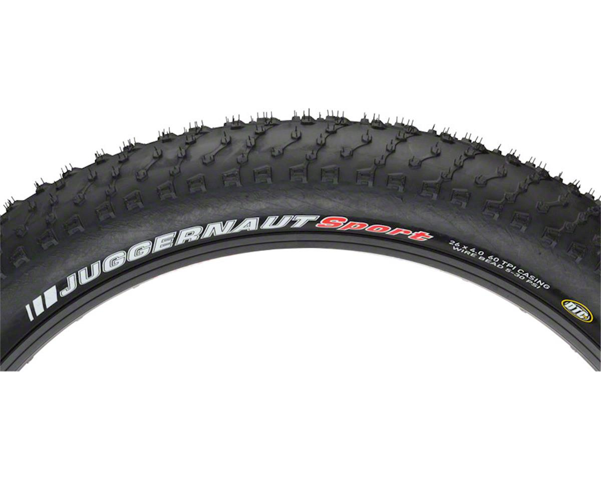 "Juggernaut Tire 26 x 4.0"" Steel Bead Black"