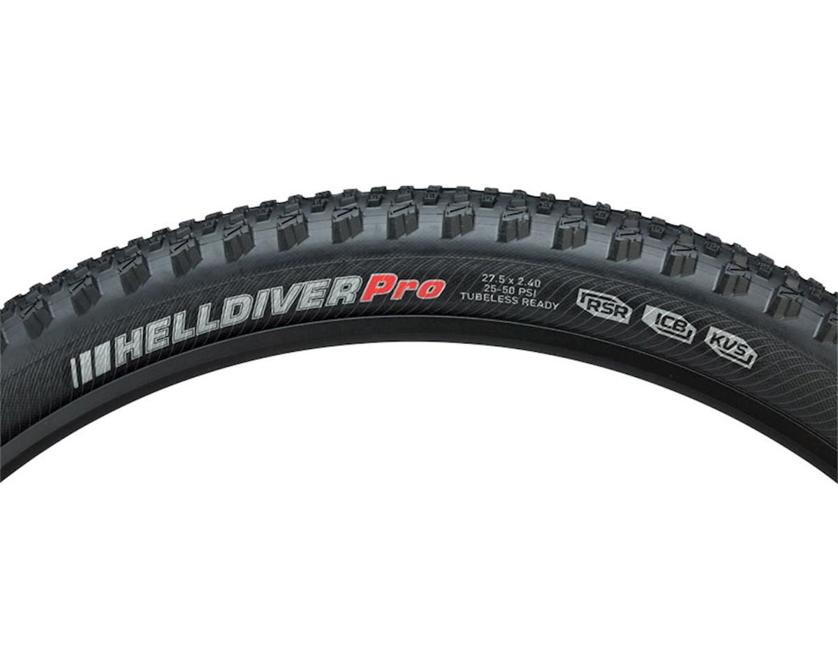 "Kenda Helldiver Pro DH and Enduro Tire: 27.5"" x 2.4"" Folding Bead, Black"