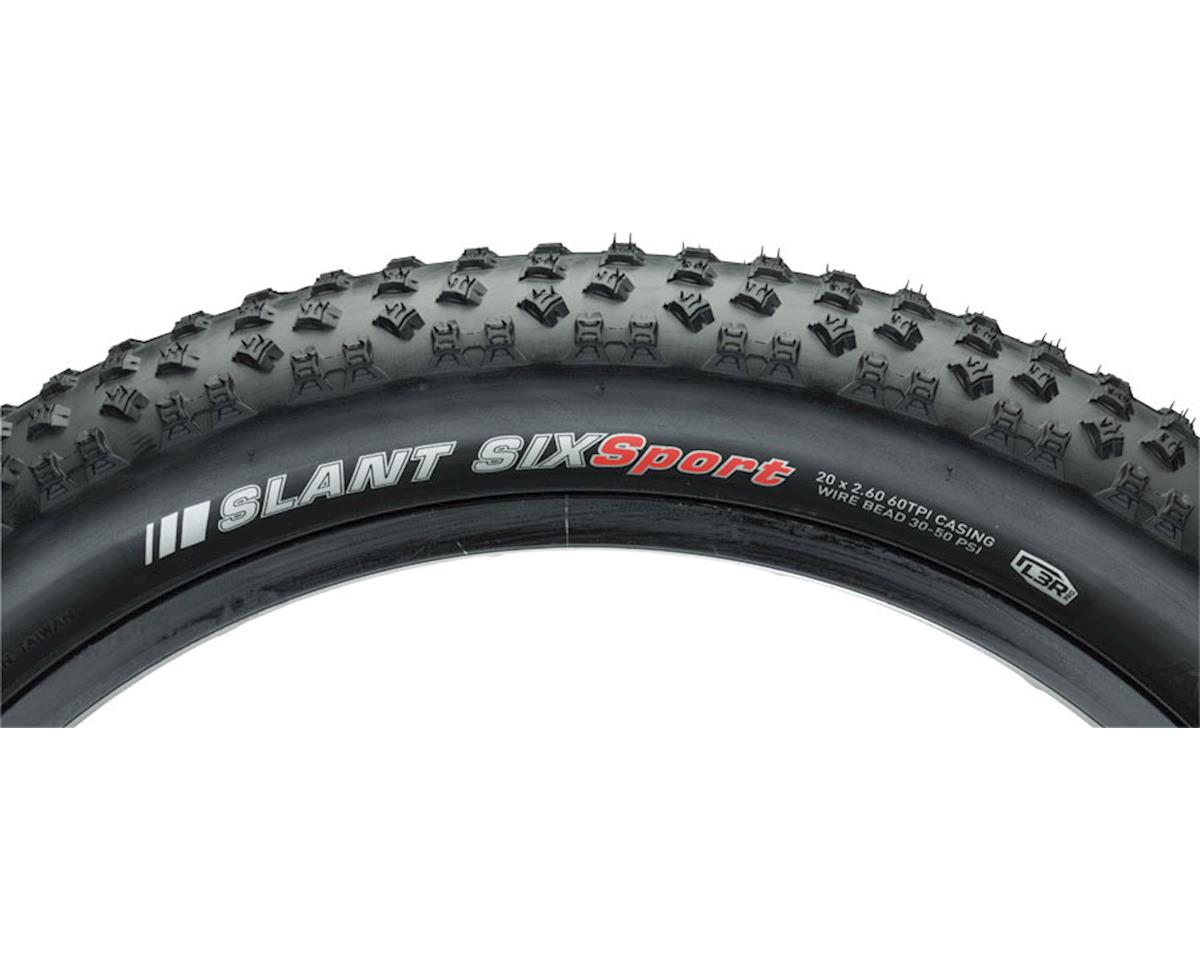 "Kenda Slant 6 Sport Tire: 20"" x 2.6"" Wire Bead, Black"