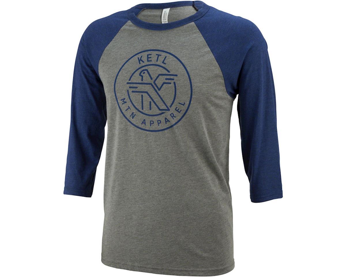 Ketl Logo Baseball T-Shirt: Blue/Gray XL
