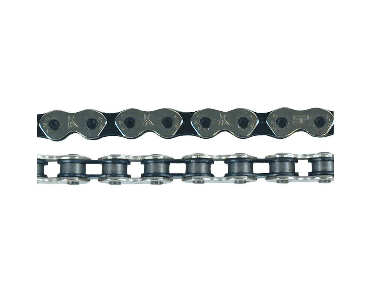"KMC K710 Kool Chain: 1/8"" 112 Links Silver/Black"