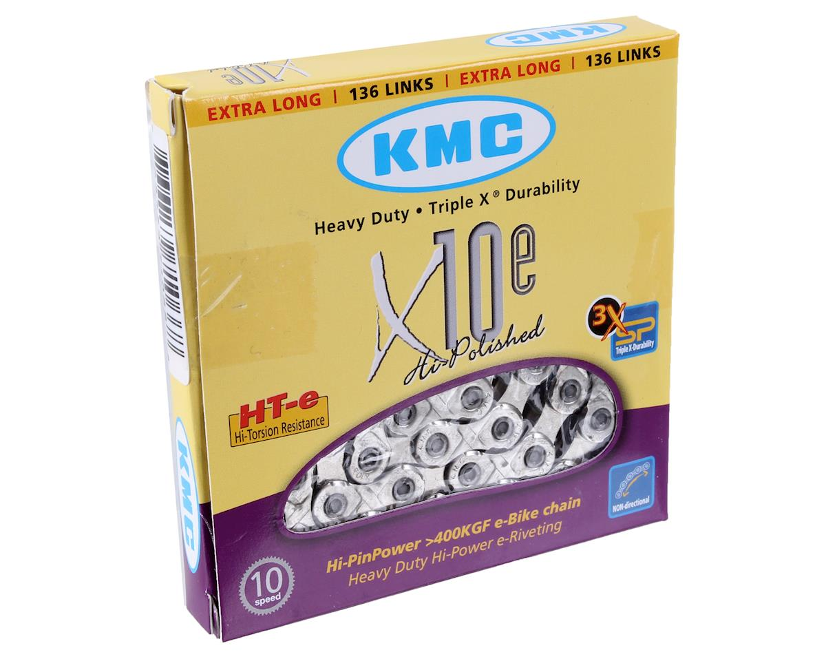 KMC X10e-Sport eBike Chain: 136 Links, Silver