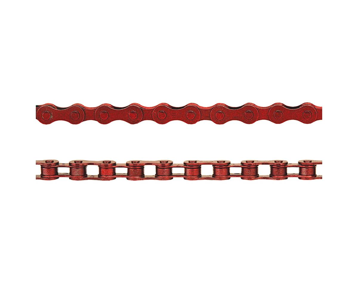 """KMC Z410 Chain: 1/8"""" 112 Links Red"""