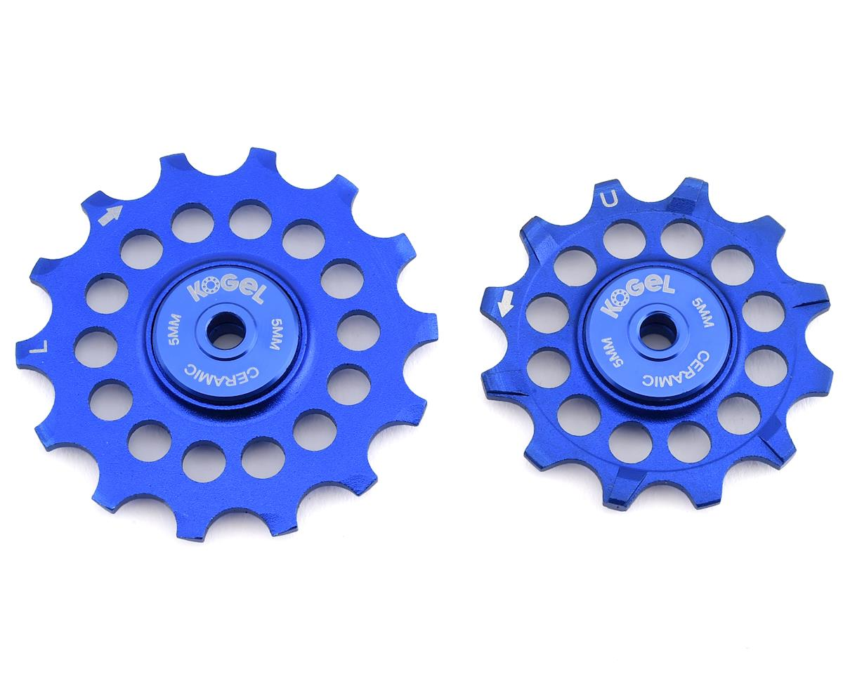 Kogel Bearings Oversized Pulleys for Shimano 9100 & 8000 Series (Blue)