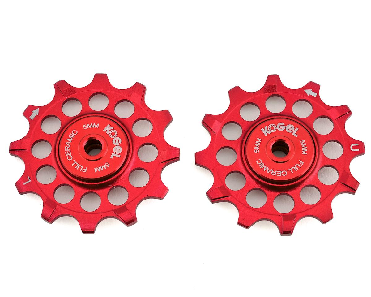 Kogel Bearings Narrow Wide Pulleys w/ Full Ceramic Bearings (Red) (12T)