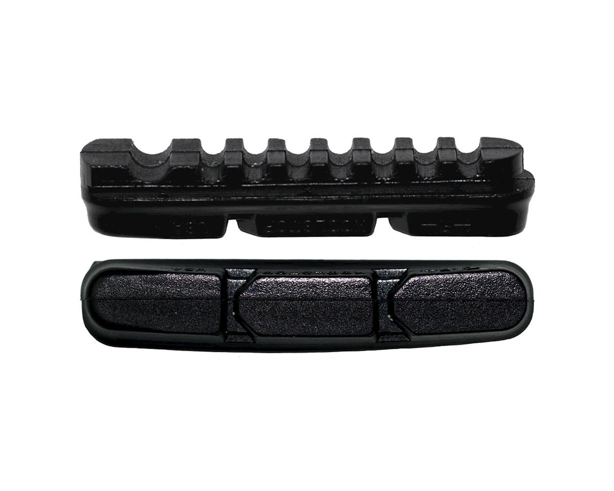 Kool Stop Dura2 Brake Pad Inserts - Black and Salmon (Black)