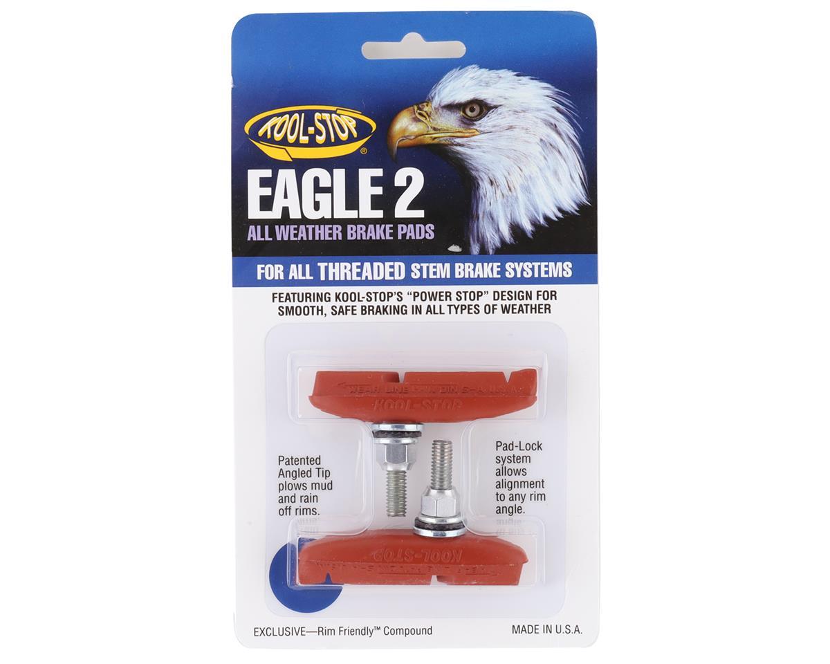 Kool Stop Eagle 2 Canti Threaded Brake Pads - Black and Salmon (Salmon)