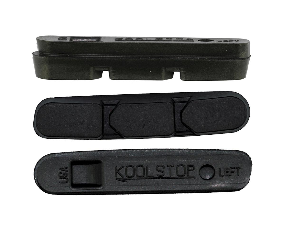 Kool Stop Super Record Brake Pad Inserts - Black and Salmon (Black)
