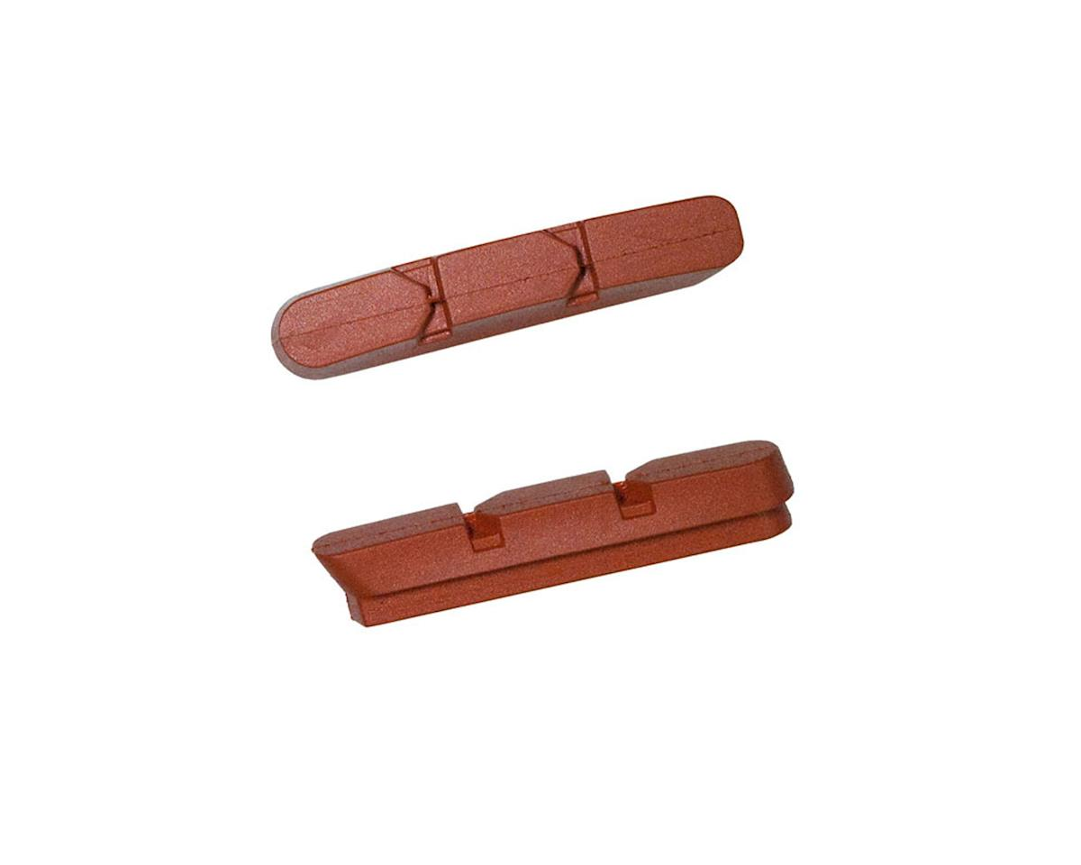 Kool Stop Super Record Brake Pad Inserts - Black and Salmon (Salmon)