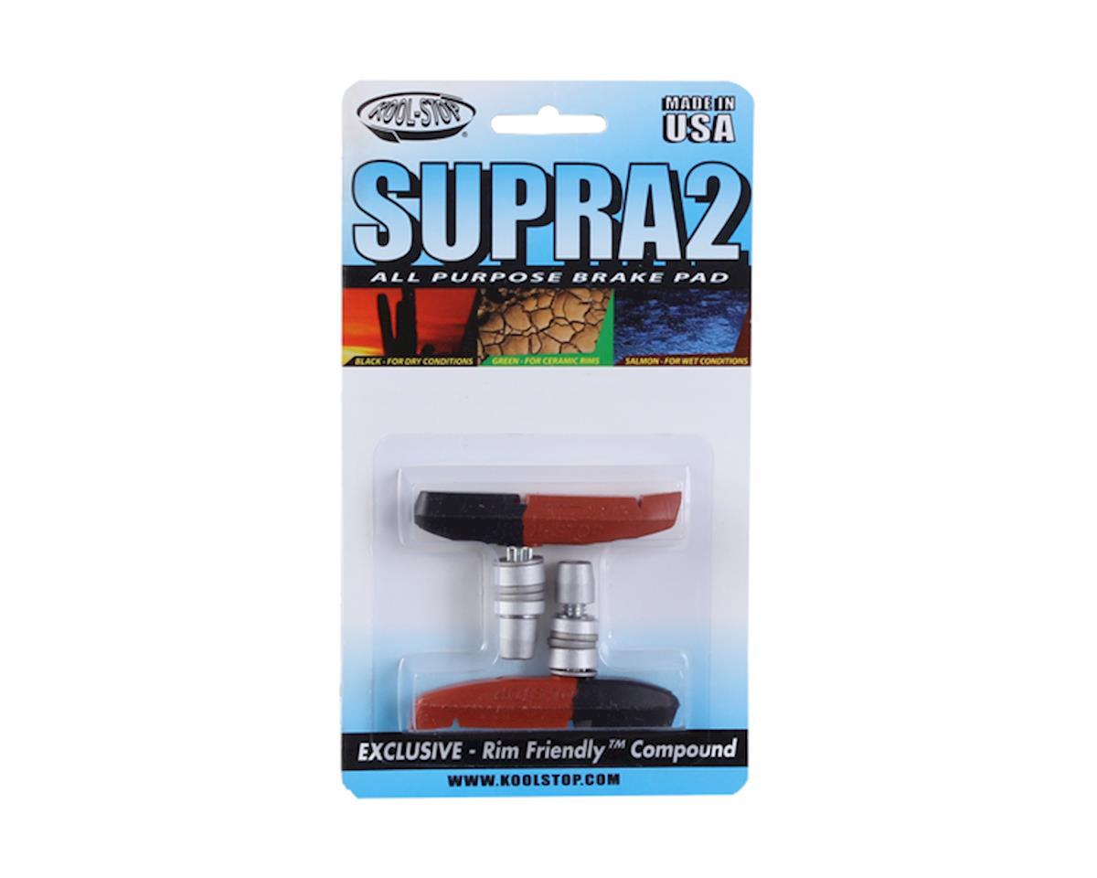 Kool Stop KOL Supra 2 U/V-Brake Pads Black/Salmon - Wet/Dry Conditions