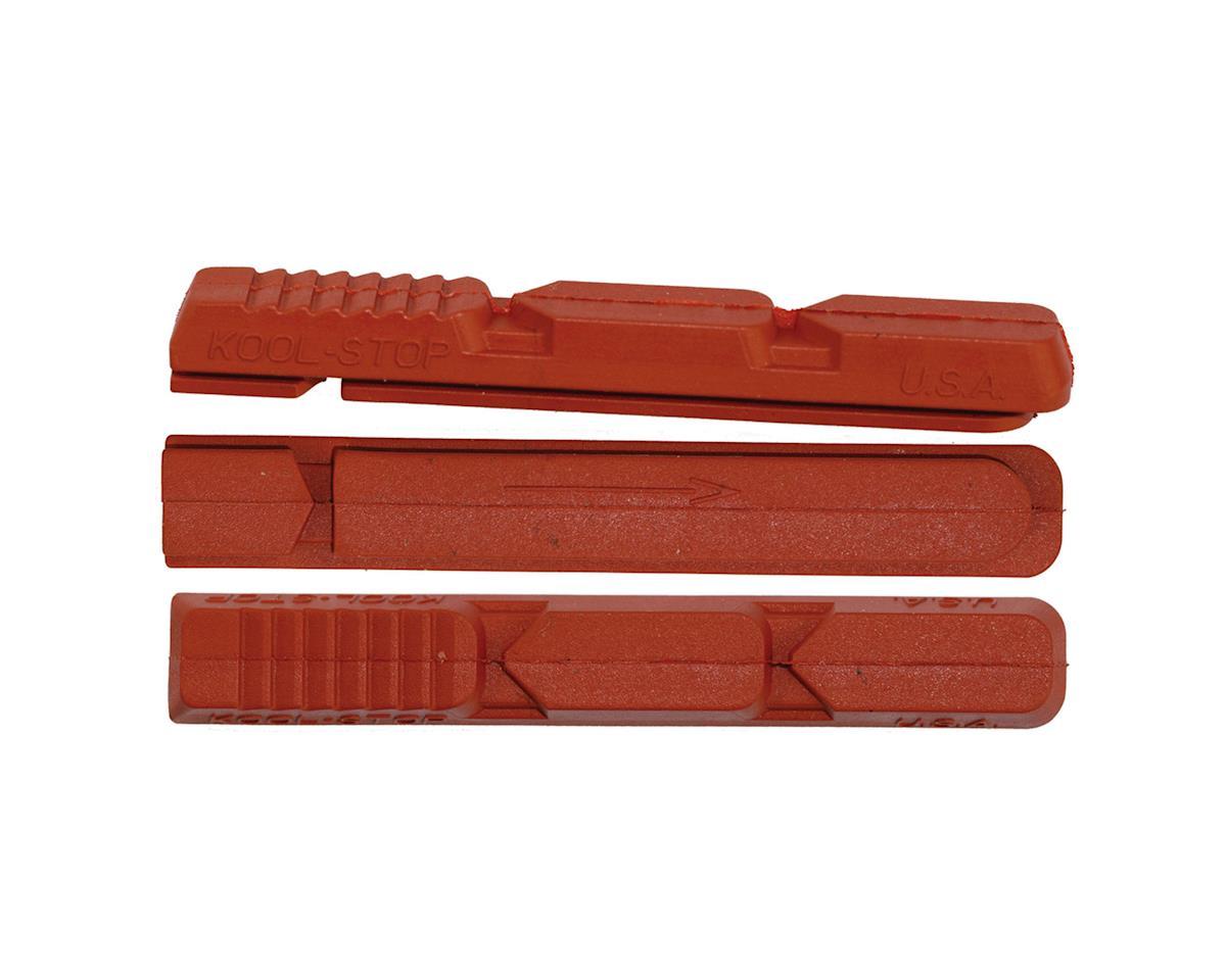 Kool Stop XT V Type 2 Brake Pad Inserts - Black and Salmon (Salmon)