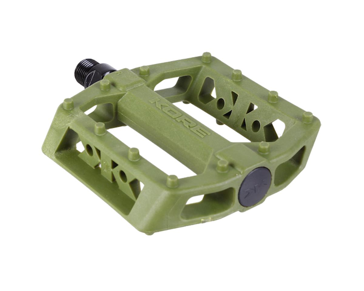 Rivera Thermo platform pedals, army green