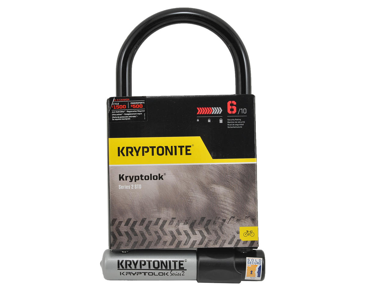 Kryptonite Kryptolok Series 2 STD U Lock w/Bracket  (100x228mm)