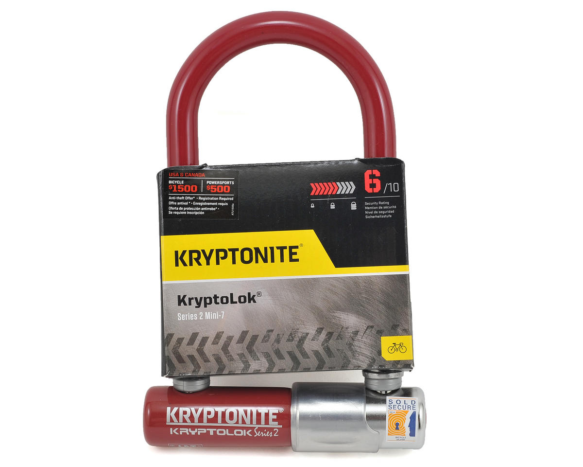 Kryptonite Kryptolok Series 2 Mini-7 (Merlot)