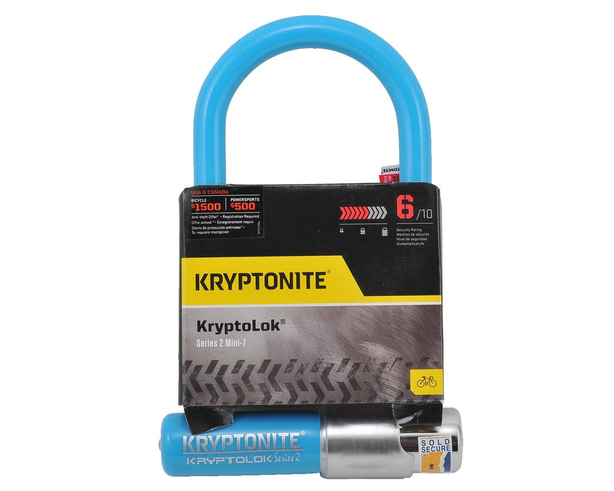 Kryptonite Kryptolok Series 2 Mini-7 (Blue)