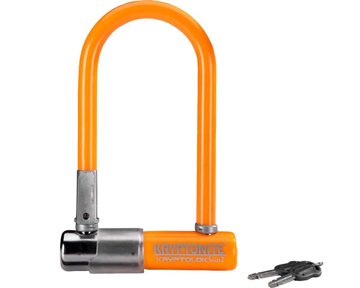"Krypto series 2 mini-7 U Lock: 3.25 x 7"" Orange"