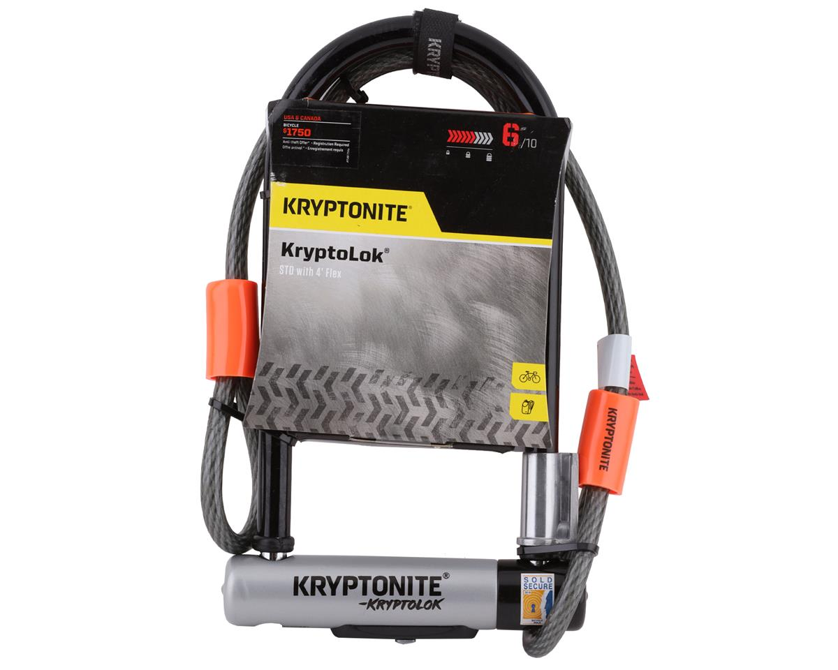 Kryptonite KryptoLok STD U-Lock with 4' Flex Cable and Bracket