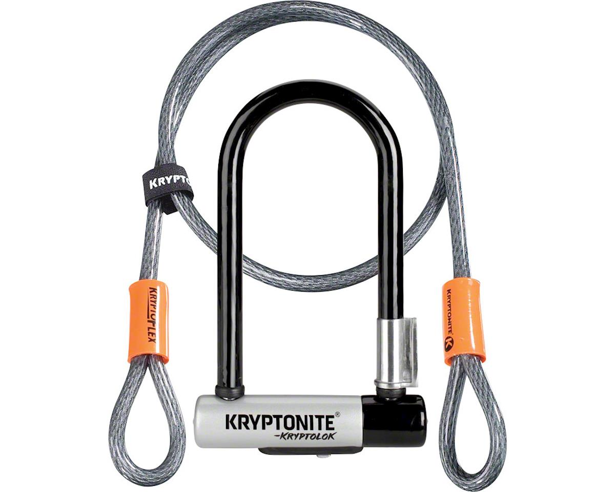 Kryptonite KryptoLok Mini-7 U-Lock with 4' Flex Cable and Bracket