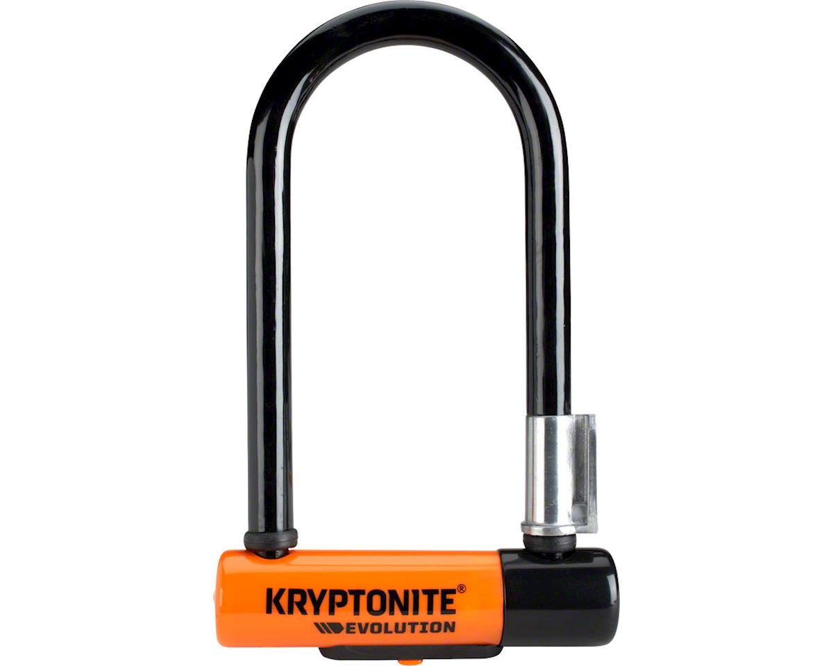 "Kryptonite Evolution Mini-7 U-Lock w/ 4' Flex Cable (3.25 x 7"") 