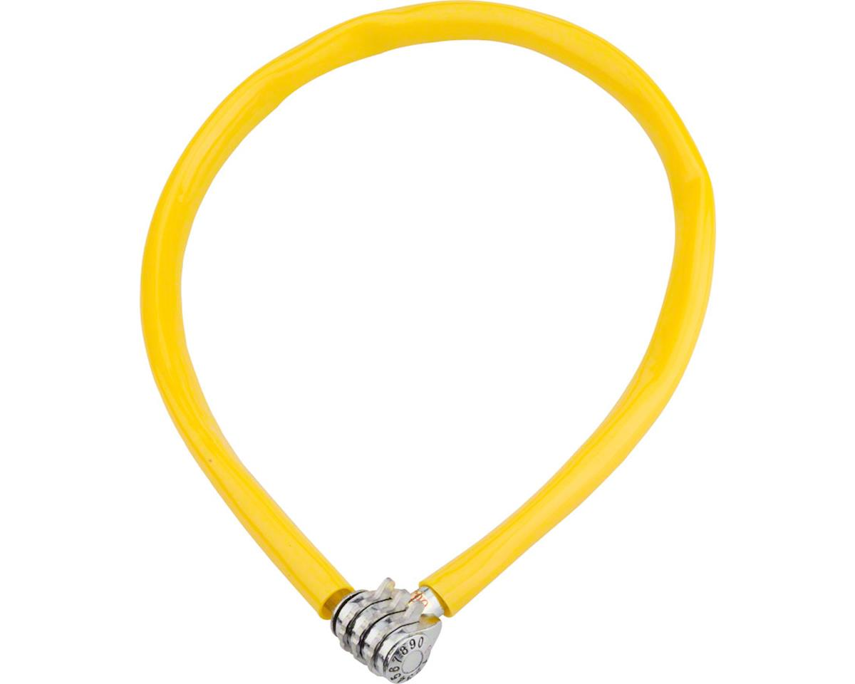 Keeper 665 Cable Lock with 3-Digit Combo: 2.13' x 6mm Yellow