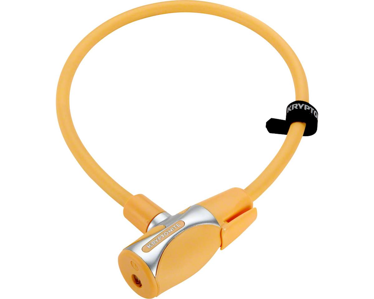 Kryptonite KryptoFlex 1265 Cable Lock w/ Key (Light Orange) (2.12' x 12mm)