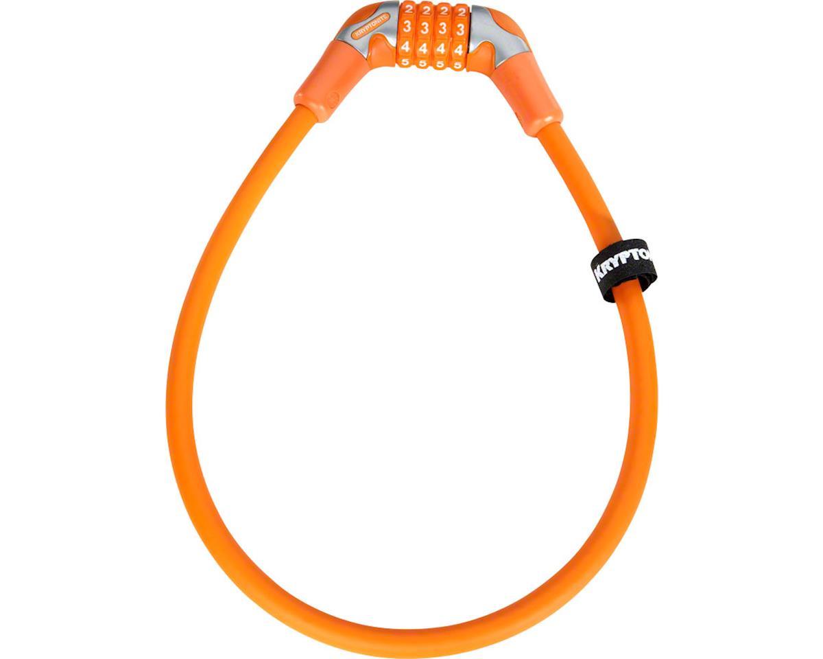 Kryptonite KryptoFlex 1265 4-Digit Combo Cable Lock: 2.12'x12mm Medium Orange