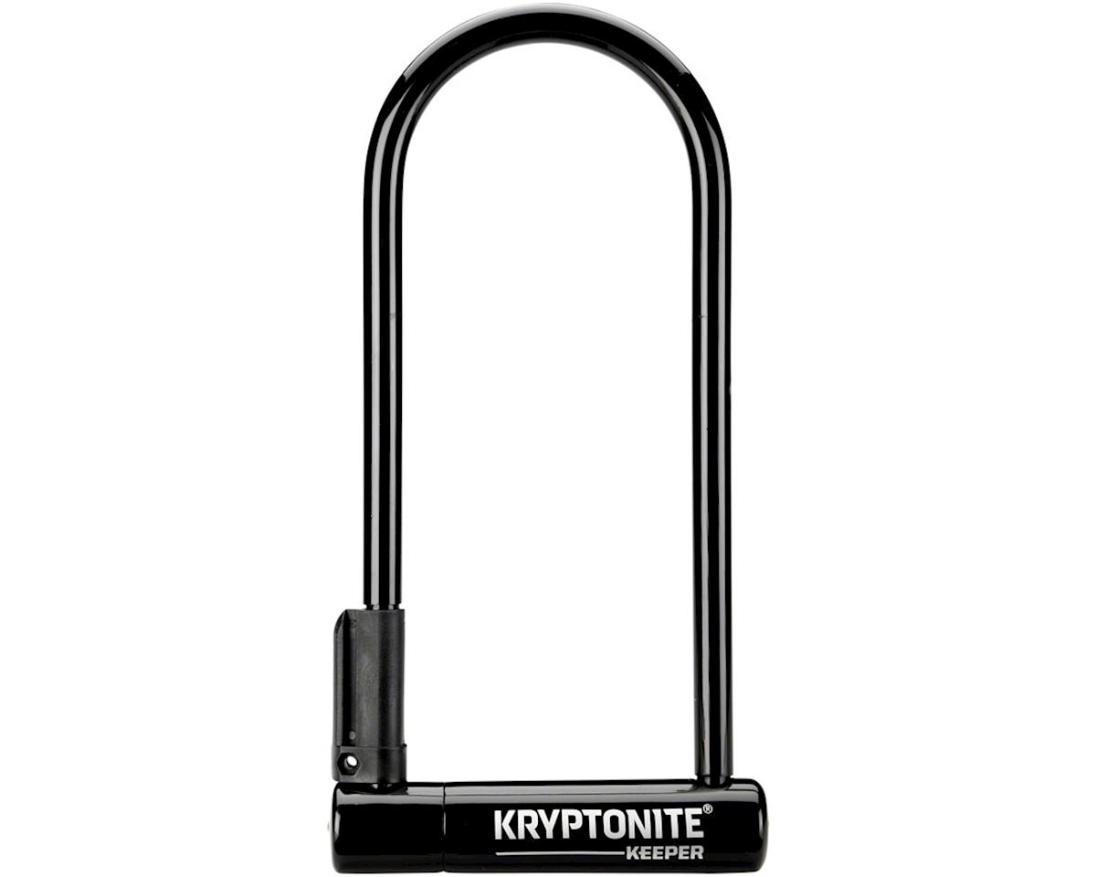 "Kryptonite Keeper U-Lock - 4 x 10"", Keyed, Black, Includes bracket"