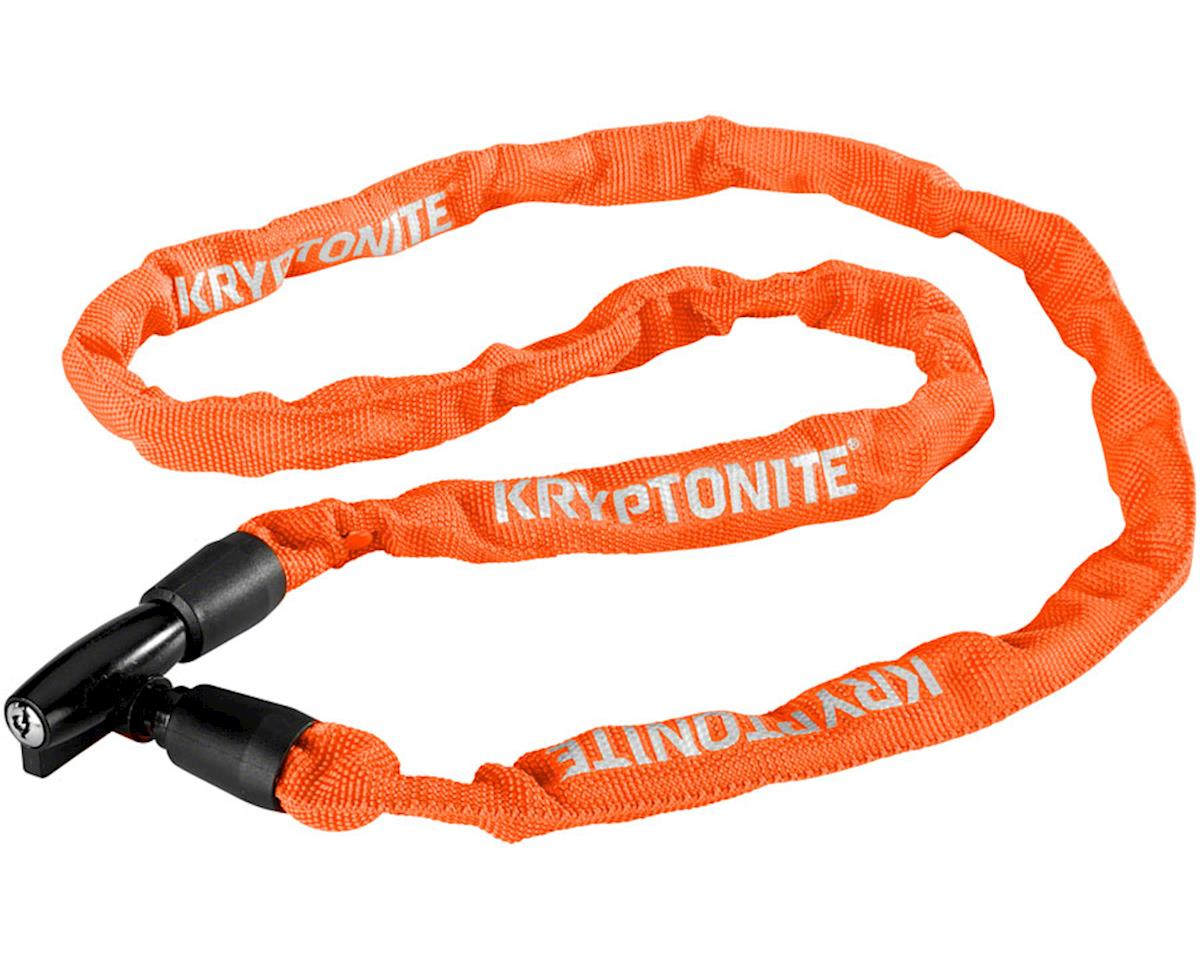 Kryptonite Keeper 411 Chain Lock with Key: Orange, 4 x 110cm