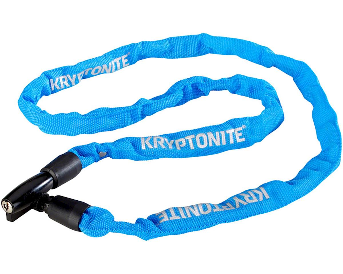 Kryptonite Keeper 411 Chain Lock with Key: Blue, 4 x 110cm