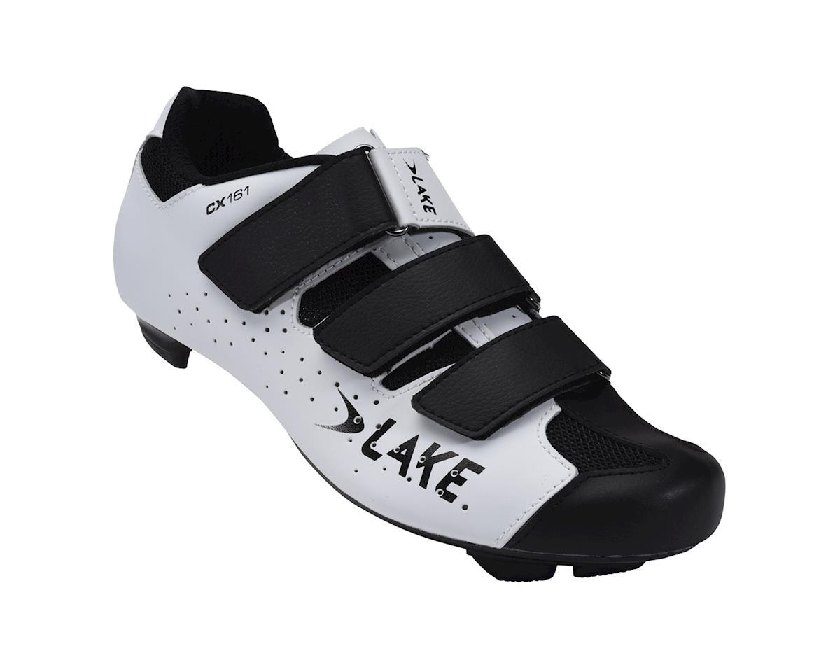 Lake CX161 Road Shoes (White/Black)