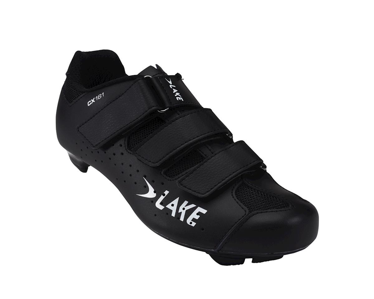 Lake CX161 Wide Road Shoes (Black)