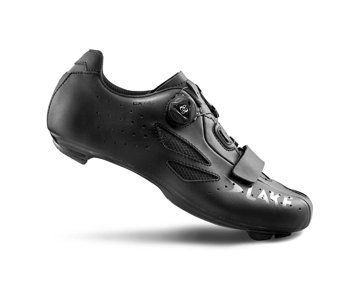 Image 1 for Lake CX176 Wide Road Shoes (Black)