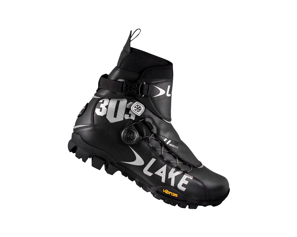 Lake MXZ 303 Winter Cycling Shoes (Black/Silver)