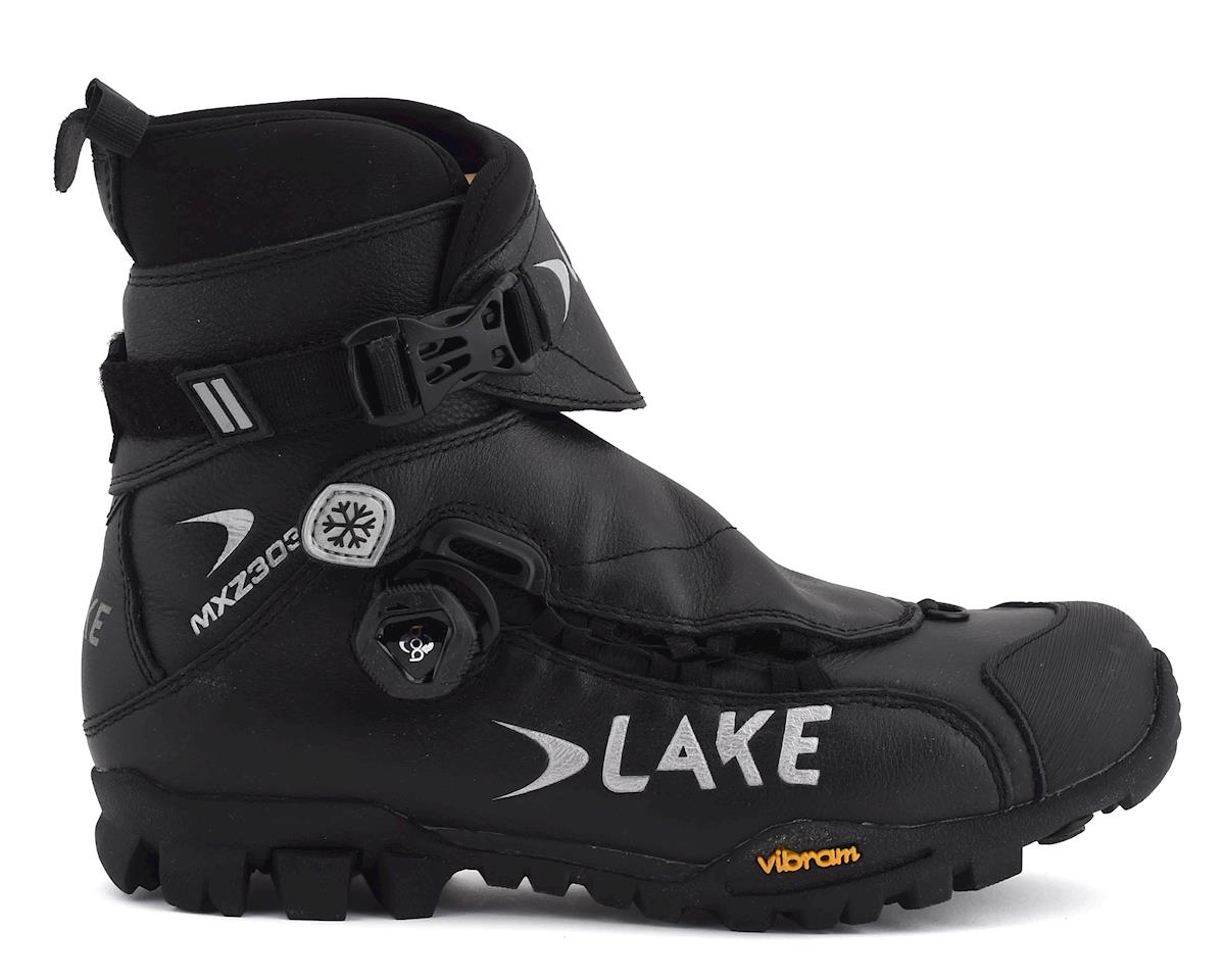 Lake MXZ 303 Winter Cycling Shoes (Black/Silver) (42)