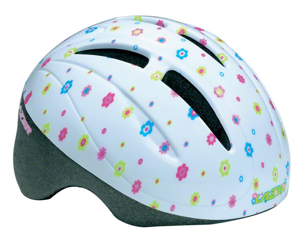 BOB Infant Helmet: White with Flowers, One Size