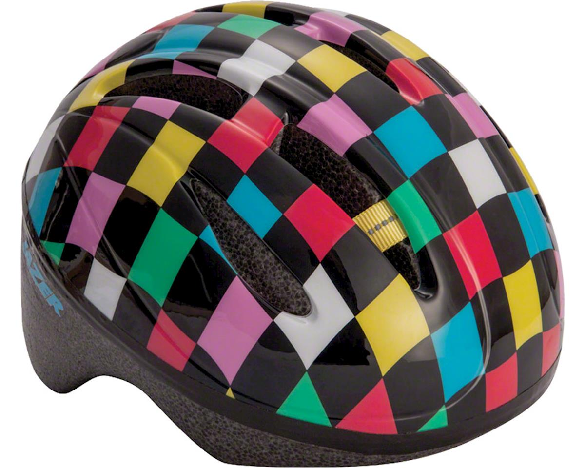 Lazer BOB Infant Helmet: Black with Multi-Color Squares, One Size