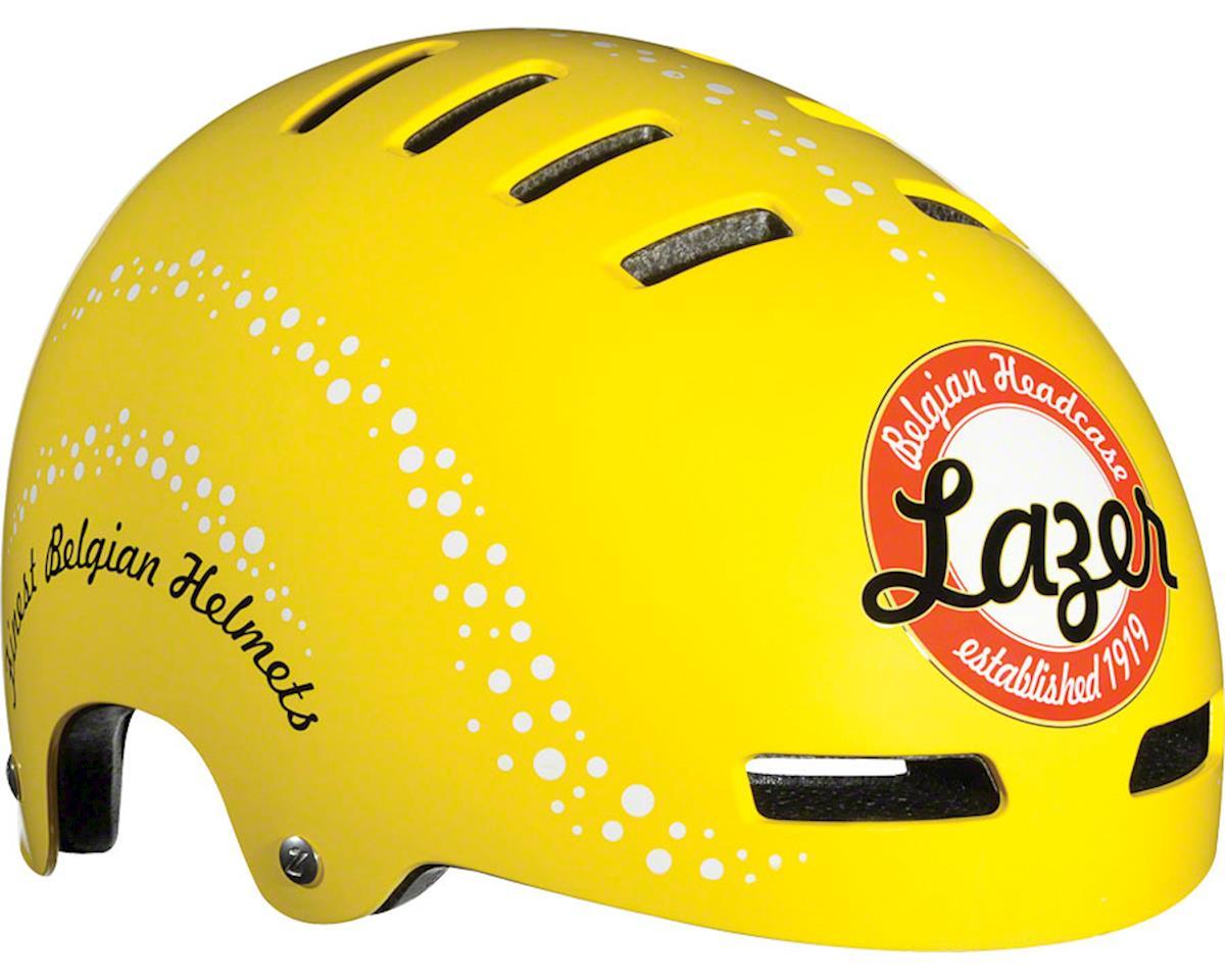 Street Helmet: Blue/White Checkered Flag LG
