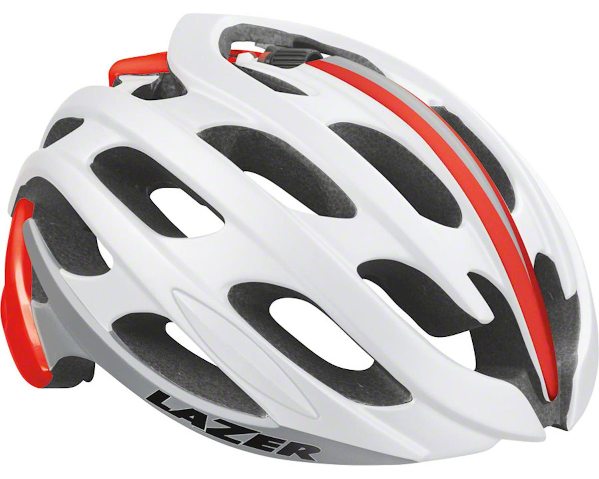 Lazer Blade Helmet: Red/White/Blue LG