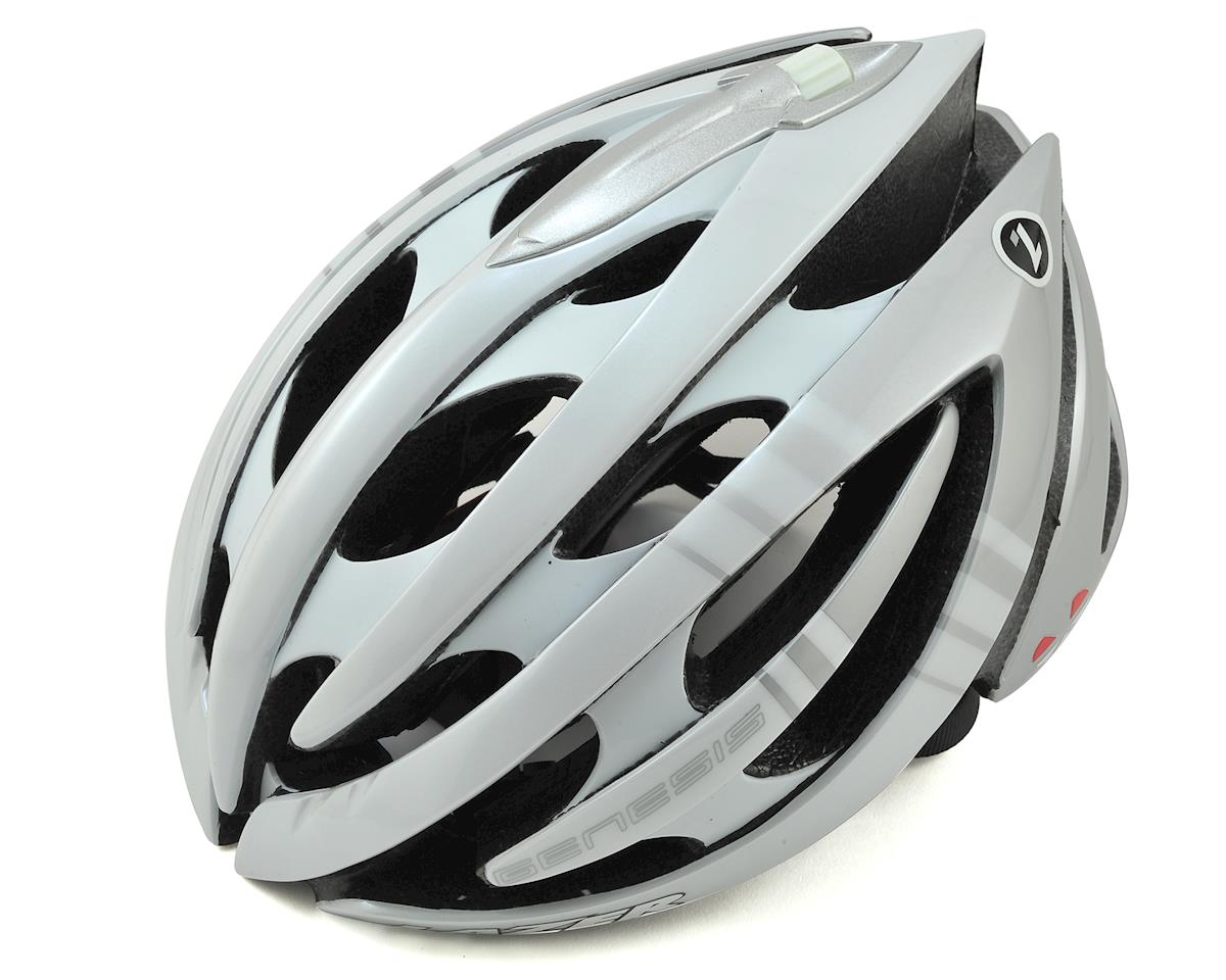 Genesis LifeBEAM Smart Helmet w/heart rate monitor (White) (Med)