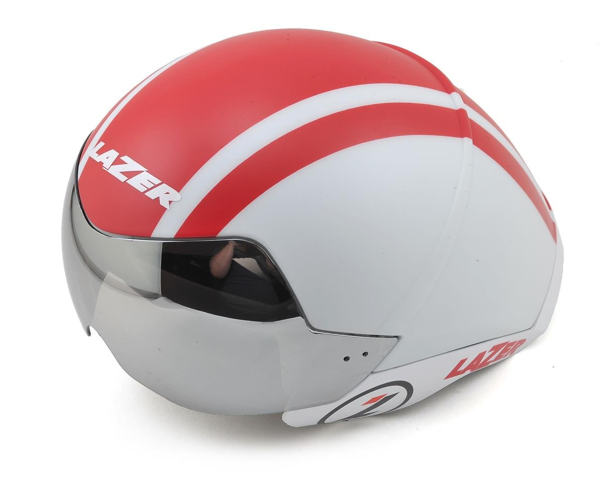 Lazer Wasp Air TT Helmet with IS (White/Red)