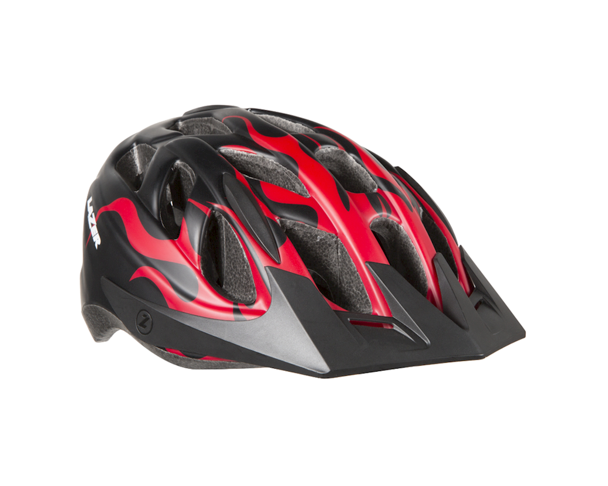 Lazer J1 Helmet (Black/Red Flames)