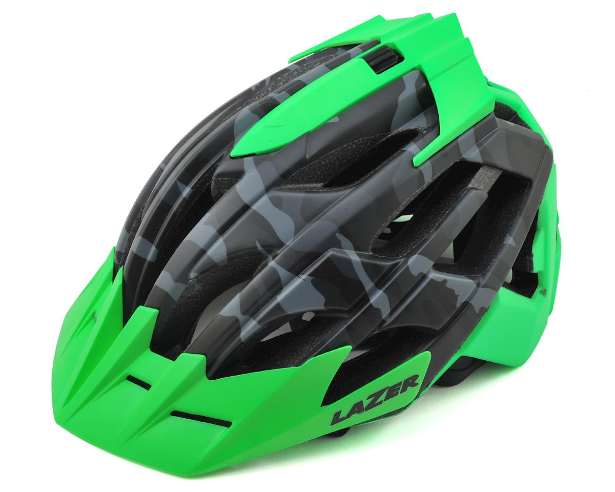 Oasiz Professional MTB Helmet (Matte Black Camo/Flash Green)