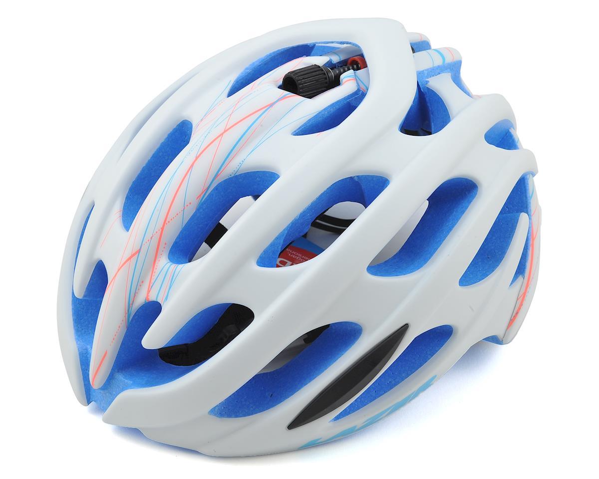 Lazer Moi! Elle Women's Road Helmet w/Aeroshell (White Swirl/Blue EPS)
