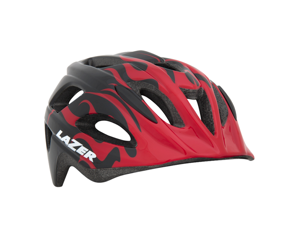 Lazer Nut'z Helmet (Black/Red Flames)