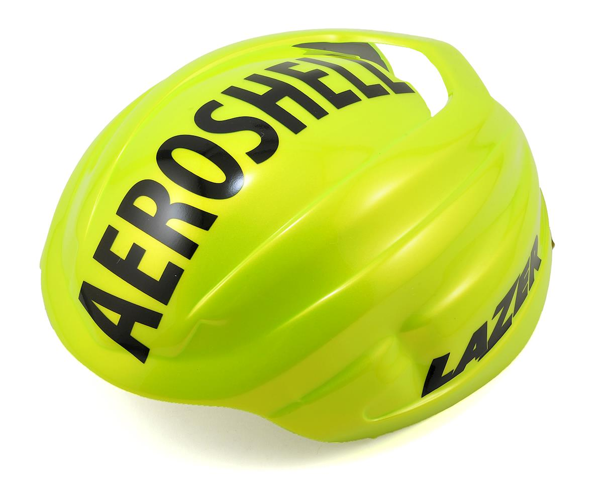 Lazer Z1 SE Helmet + Aeroshell (Bright Yellow) (M)