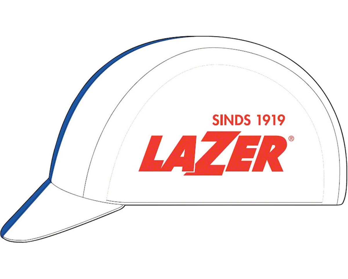 Cycling Cap: White with Blue Line