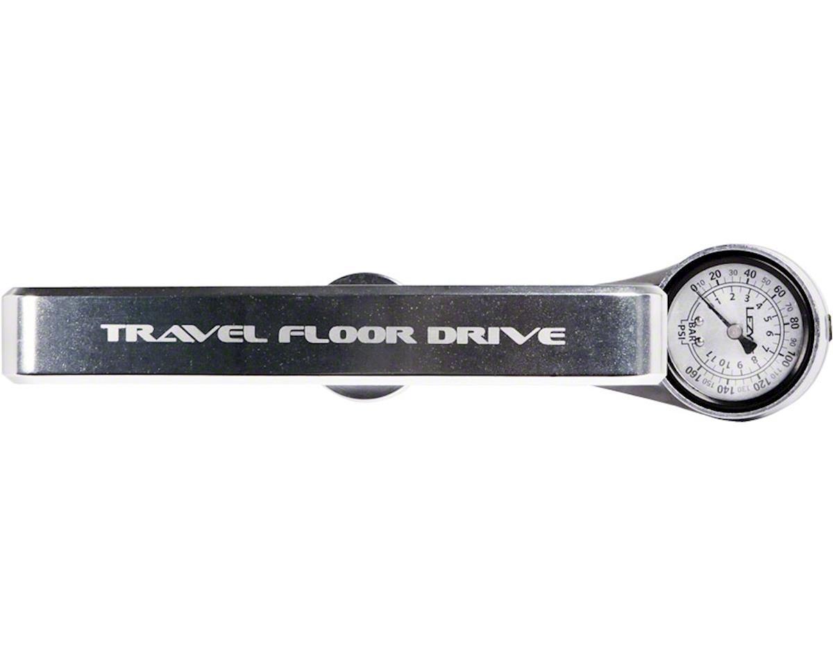 Lezyne ABS CNC Travel Floor Drive Pump (Silver) (Presta/Schrader Valve)