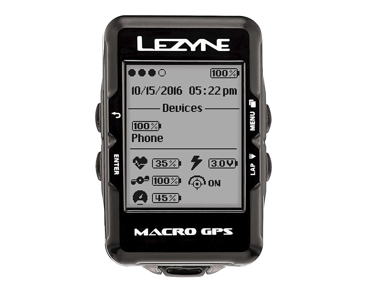 Lezyne Macro GPS Loaded Cycling Computer w/ Heart Rate & Speed/Cadence Sensor