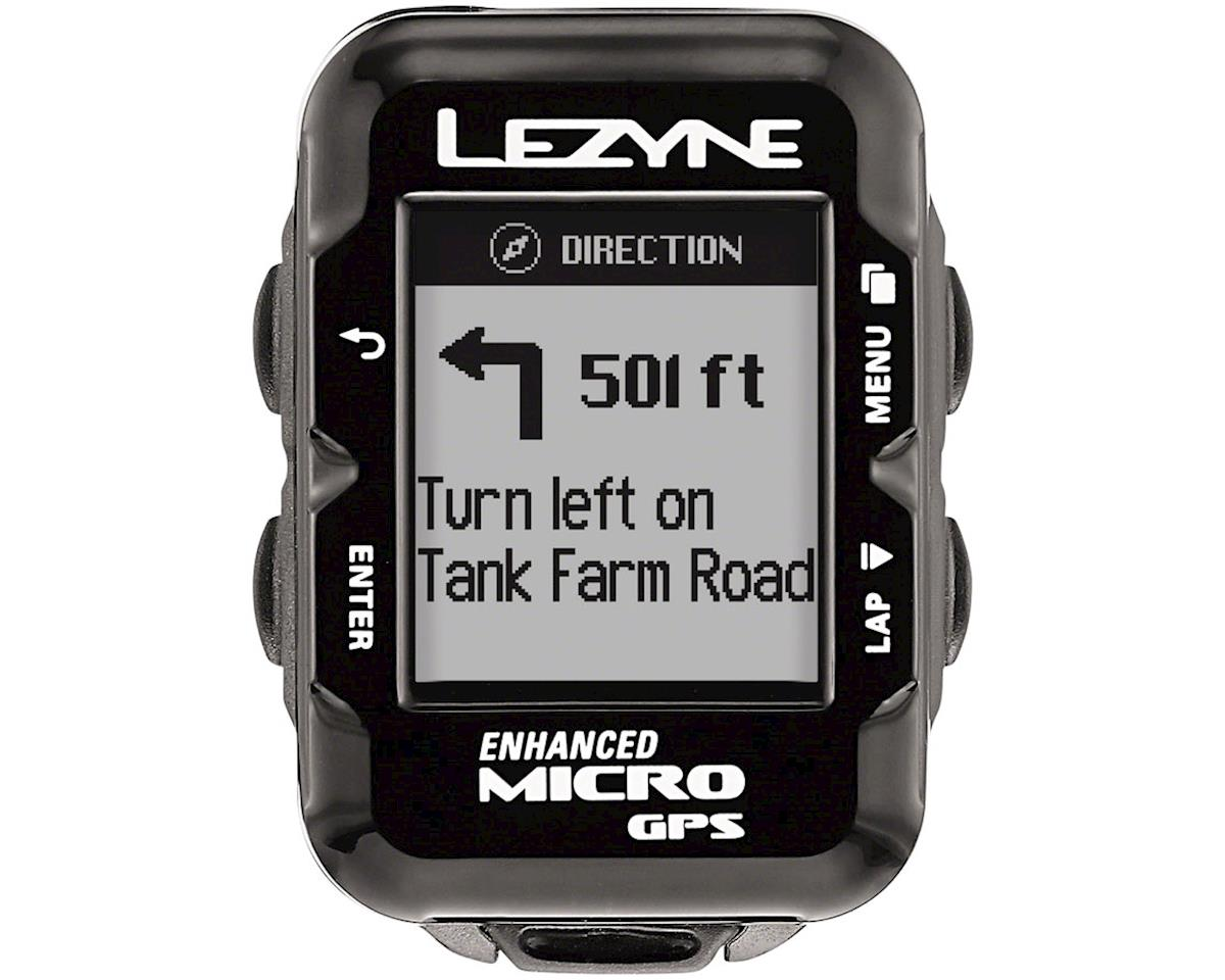 Lezyne Micro GPS Loaded Cycling Computer w/ Heart Rate (Black)
